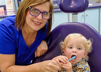 2 year old dental check up brushing toddler teeth
